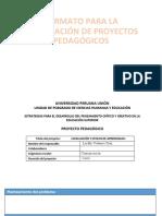 FORMATO PARA LA ELABORACIÓN DE PROYECTOS PEDAGÓGICOS