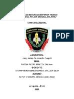 Prietro berreta-A2 PNP Chahuara Mendoza Alex Nilson-Uso y Manejo de Armas III