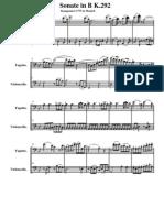 sonata fagot mozart (score)