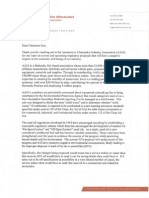 Automotive Aftermarket Industry Association Letter to Chairman Issa - January 11, 2011