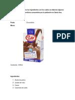 Investigación sobre los ingredientes con los cuales se elaboran algunos productos alimenticios