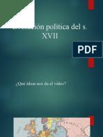 Evolución política del s. XVII