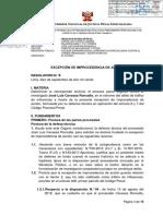 EXCEPCIÓN DE IMPROCEDENCIA DE ACCIÓN RESOLUCIÓN N.° 8