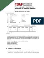 SILABO DE CÁLCULO VECTORIAL
