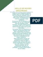 EL ANILLO DE MOISES DESCIFRADO