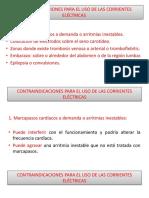 PRESENTACIÓN CONTRAINDICACIONES, PRECAUCIONES Y EFECTOS ADVERSOS PARA EL USO DE LAS CORRIENTES ELÉCTRICAS