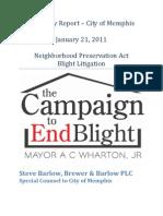 Blight Litigation Update - January 21, 2011