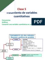 Clase 5 Tratamiento variables  cuantitativas-graficos y frecuencias