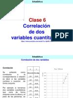 Clase 6 Correalción de dos variables cuantitativas