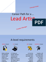 Career Path for a LEAD ARTIST