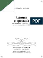 Reforma o apostasía