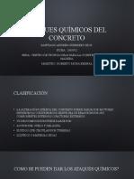Ataques químicos del concreto. Santiago Andres Guerrero Rios.