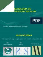 CONSTRUCCIÓN DE HILOS