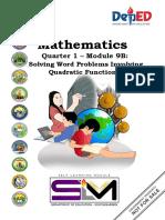 Final  Mathematics 9 Q1 Module 9B Solving Word Problems Involving Quadratic Function (1)