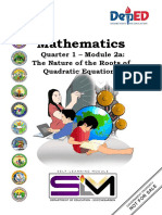 Final Mathematics 9 Q1 Module 2a The Nature of the Roots of Quadratic Equations v1.0.0