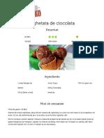 Inghetata de ciocolata - Reteta Bucataria Lidl