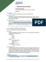 4.3.2. ESPECIFICACIONES TÉCNICAS PARTIDAS EJECUTADAS - MAYORES METRADOS N°01