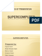 Presentation on Super Computer