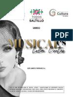 MUSICALES CON LOLA CORTÉS - LIBRETO