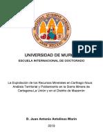 Juan Antonio Antolinos Marín Tesis Doctoral