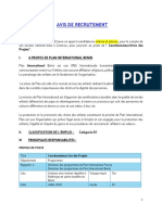 AVIS DE RECRUTEMENT - Coordonnateur des Projets-FNO