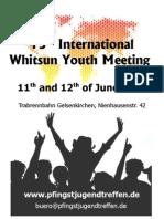 15 th InternationalWhitsun Youth Meeting 2011 Germany