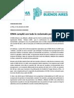 Comunicado IOMA AMP 15 de Setiembre de 2020
