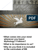 Mythology and Folklore Introduction