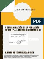 Presentación dotaciones y demandas