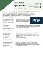 Curriculum Vitae Miquel Mayol