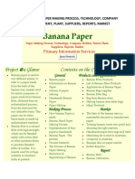 BANANA PAPER-PAPER MAKING PROCESS, TECHNOLOGY, COMPANY PROFILES, PATENT, PLANT, SUPPLIERS, REPORTS, MARKET.pdf