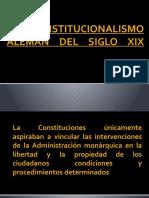 EL CONSTITUCIONALISMO ALEMÁN DEL SIGLO XIX
