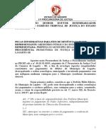 PEÇAS INFORMATIVAS PARA FINS DE DENÚNCIA Nº 08/2020