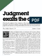 [FERCH Arthur J.] Judgment exalts the cross (Mininstry, 1983-04).pdf