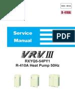 Si34-601A - VRVIII - RXYQ5-54PY1 - R-410A Heat Pump 50Hz_Service manuals_English
