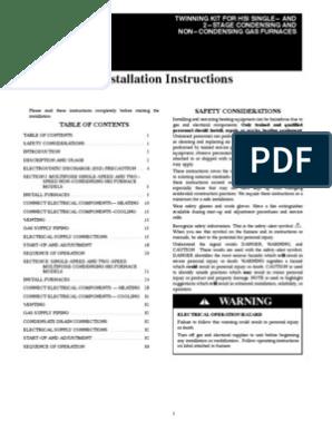 Carrier Twinning Instructions | Furnace | Electrostatic
