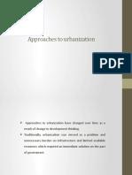 Approaches to Urbanization