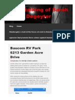 Www Thestalkingofsarahdegeyter Com 2020-09-15 Baucom Rv Park 6213 Garden Acre Dr