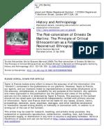 BERROCAL, Emilio Giacomo, 2009, The Post‐colonialism of Ernesto De Martino