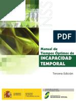Manual de Tiempos Optimos de INCAPACIDAD TEMPORAL.pdf