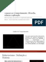 Análise do Comportamento filosofia, ciência e aplicação