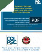Plan de apoyo a docentes orientadores como respuesta psicológica frente al brote del COVID-19 en Colombia