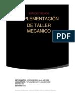 estudio técnico implementación de Taller mecánico