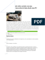 Cómo imprimir sobre acetato con una impresora de inyección de tinta desde una PC
