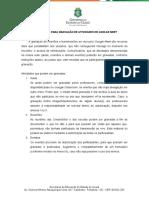 ORIENTAÇÕES PARA GRAVAÇÃO DE ATIVIDADES NO GOOLGE MEET. 2020 (1)