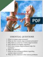 Women Empowerment (agustin, diego, dimalnat)