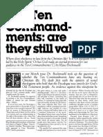 [BOCKMUEHL Klaus] The Ten commandments - are they still valid, Part 2 (Ministry 1985-05)