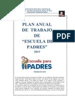 PLAN DE TRABAJO DE  ESCUELA PARA PADRES 2019