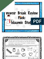 Winter Break Reivew Pack_Islaamic St.