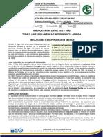8 SOCIALES P3 E 2 -JUNTAS EN AMÉRICA E INDEPENDENCIA ARMADA.